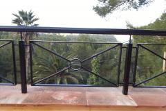 Barandilla acero galvanizado acabado color negro