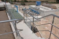 Barandilla acero inox 316 para instalaciones depuradoras
