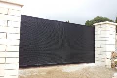 Barrera corredera acero galvanizado acabado negro forja