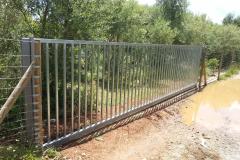 Barrera corredera acero galvanizado
