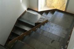 Escalera interio acero al carbono