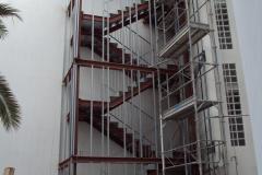 Estructura acero al cabono para escalera contra incendios