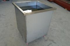 Cubeta acero inox 304 estanca con ruedas