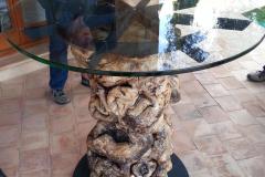 Combinacion acero al carbono con tronco y cristal