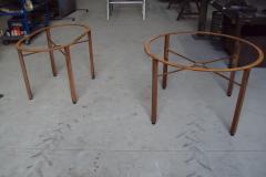 Mesas acero al carbono imitacion oxido