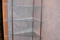 Estante esquinero baño inox 304 brillante